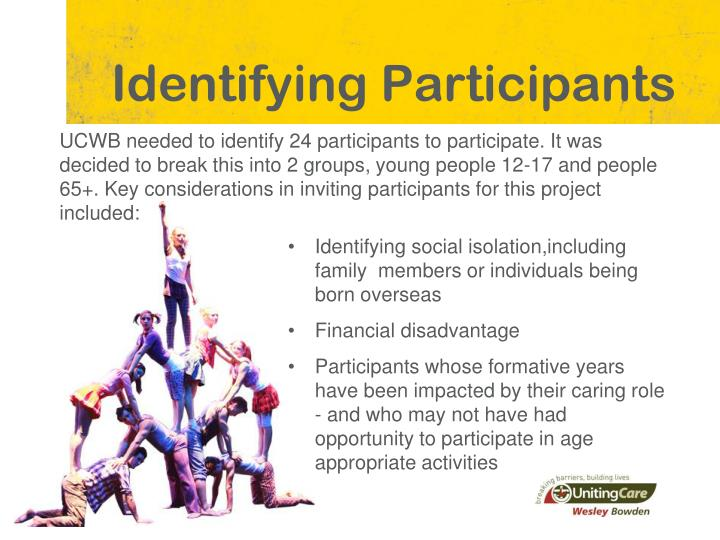 Identifying Participants
