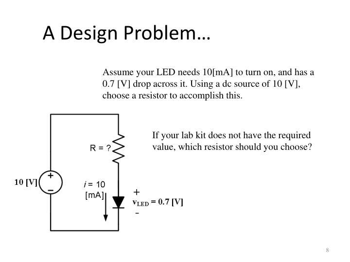 A Design Problem…