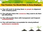 four promises you should make to every employee