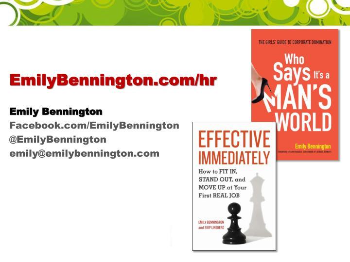 EmilyBennington.com/hr