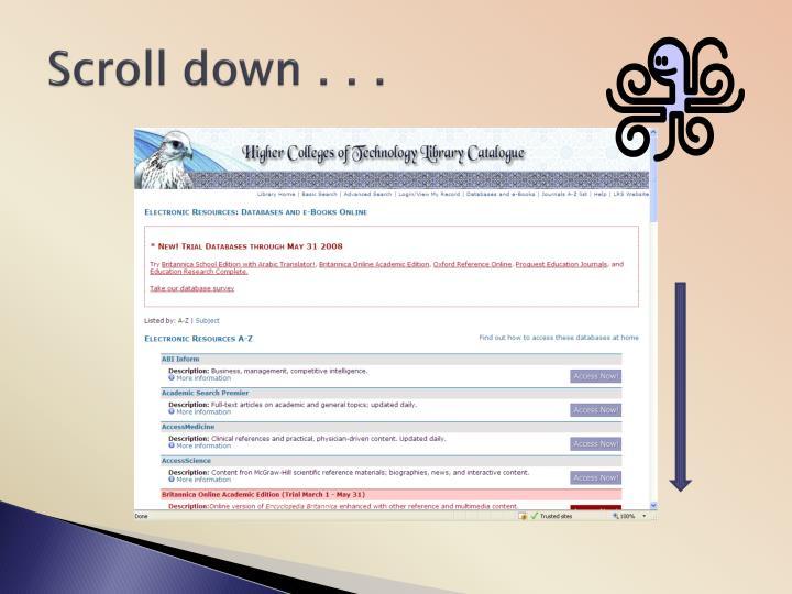 Scroll down . . .