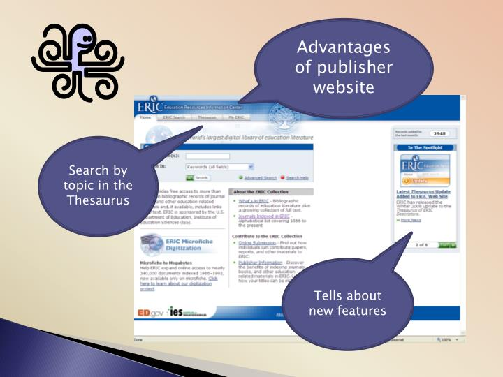 Advantages of publisher website