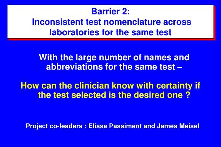 Barrier 2: