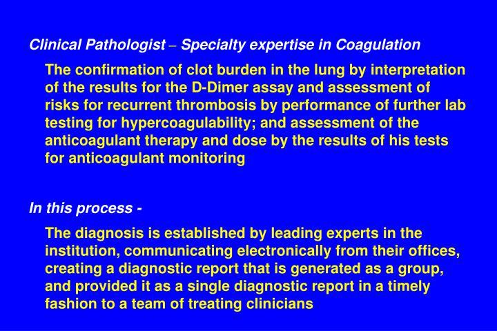 Clinical Pathologist