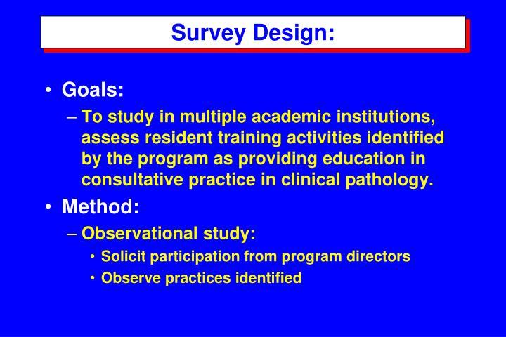 Survey Design: