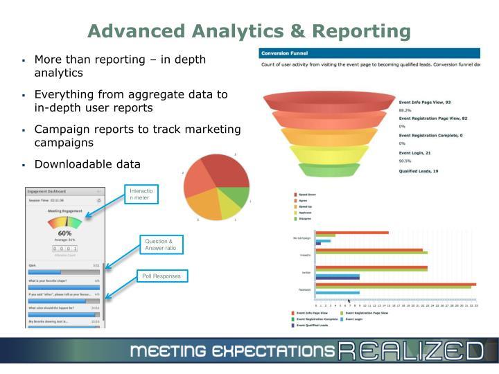 Advanced Analytics & Reporting