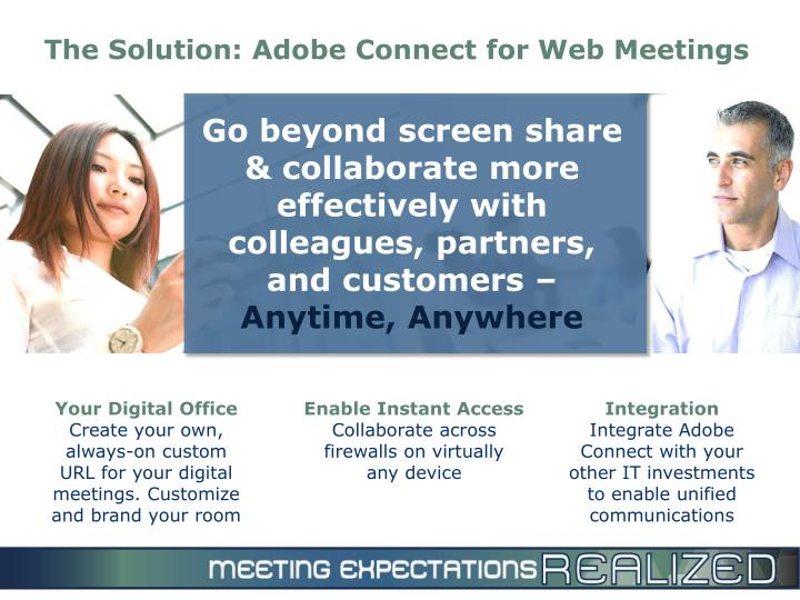 The Solution: Adobe Connect for Web Meetings