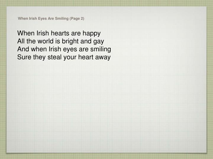 When irish eyes are smiling page 2