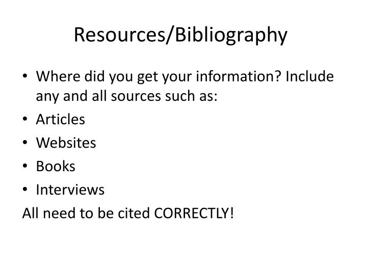 Resources/Bibliography