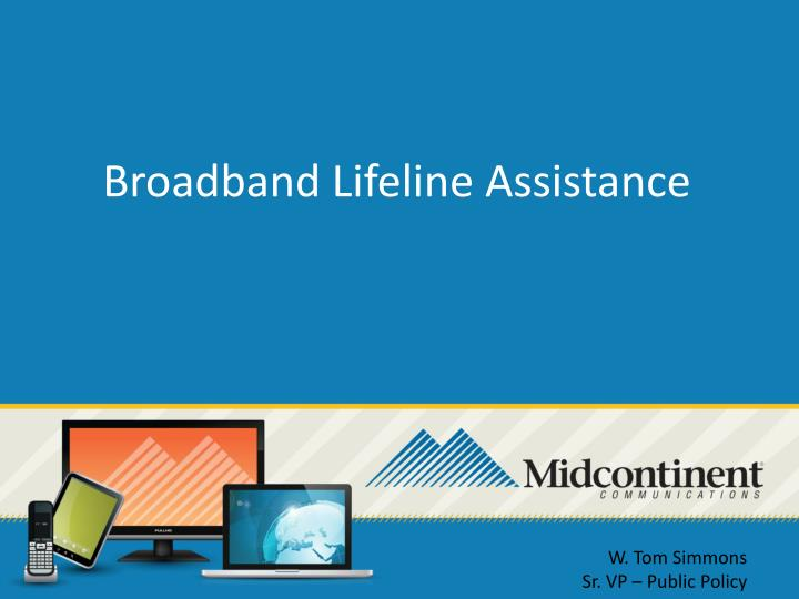 Broadband Lifeline Assistance