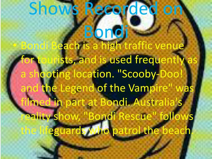 Shows Recorded on