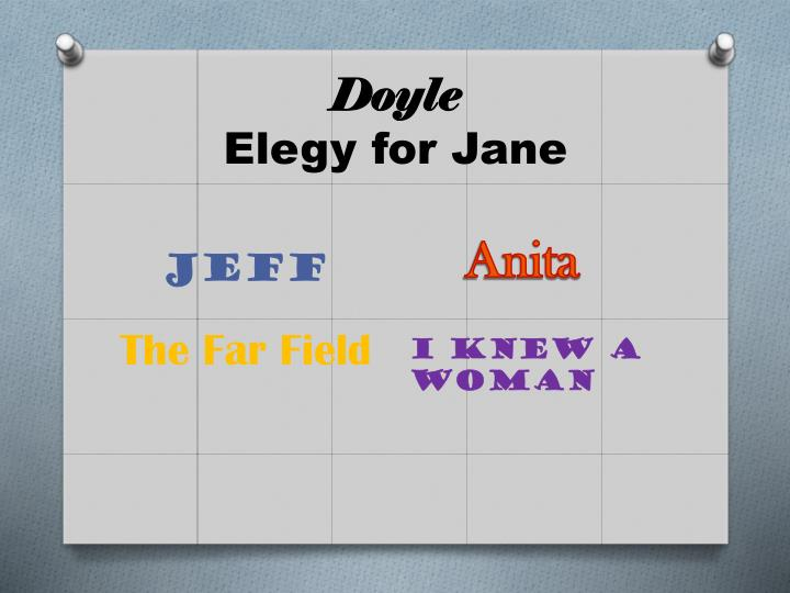 Doyle elegy for jane