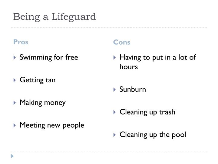 Being a Lifeguard