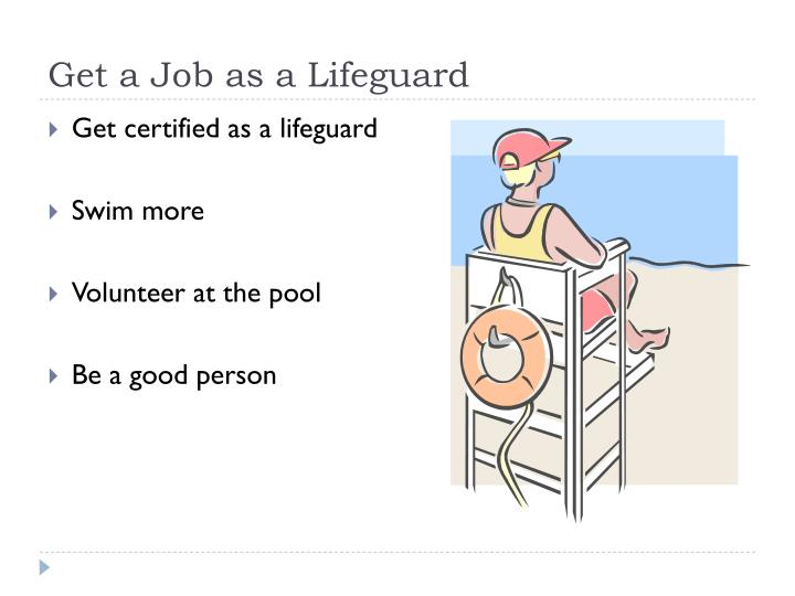 Get a Job as a Lifeguard