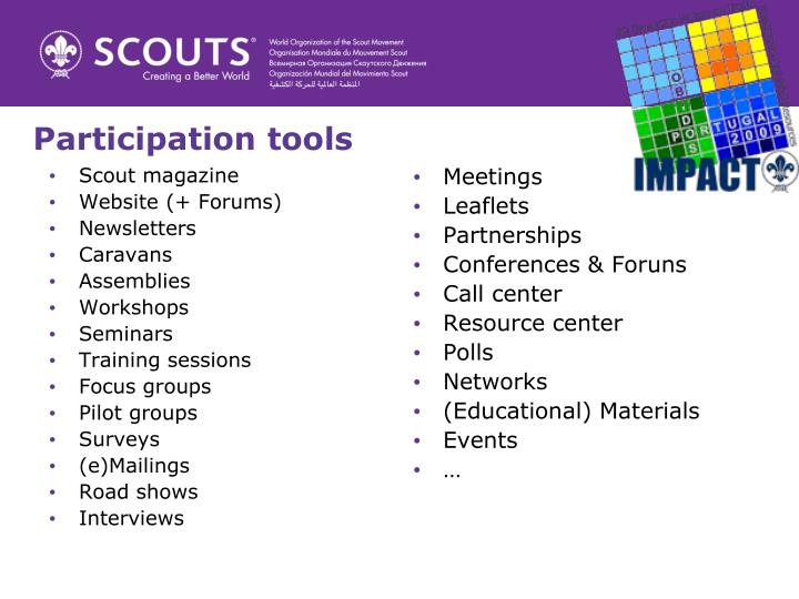 Participation tools