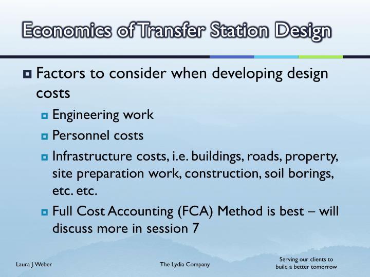 Economics of Transfer Station Design