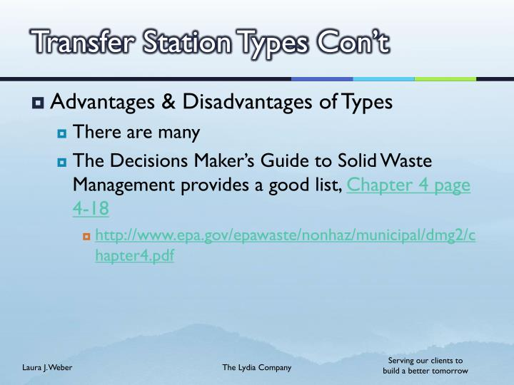 Transfer Station Types