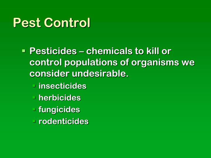 Pest control in food i