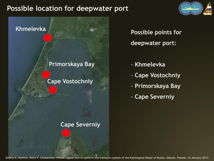 Possible location for deepwater port