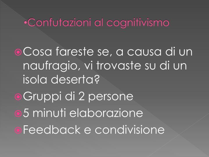 Confutazioni al cognitivismo