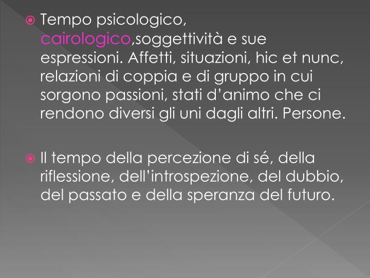 Tempo psicologico,