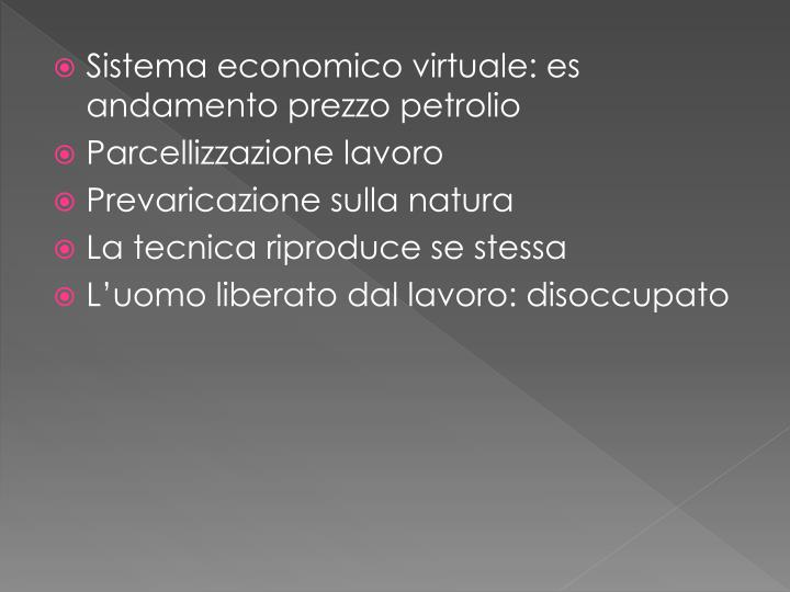 Sistema economico virtuale: