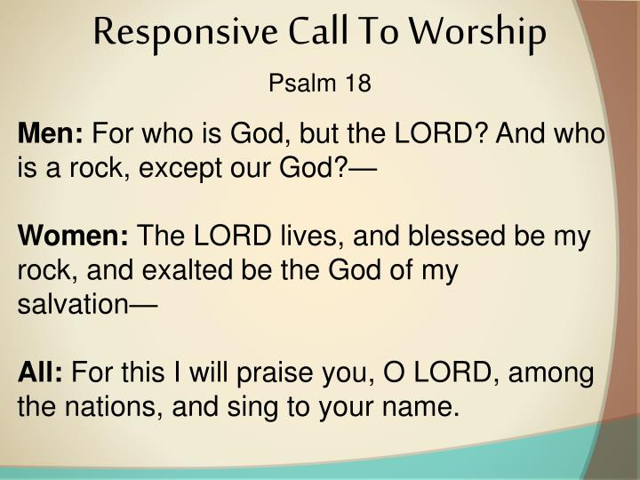 Responsive Call To