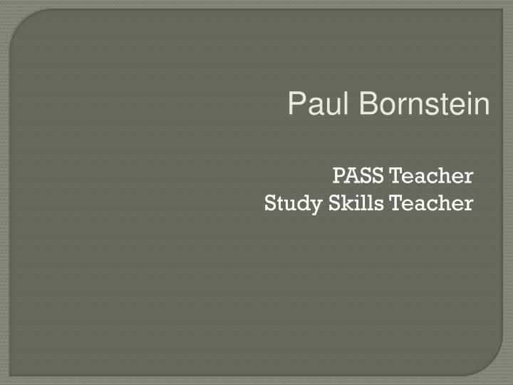 PASS Teacher