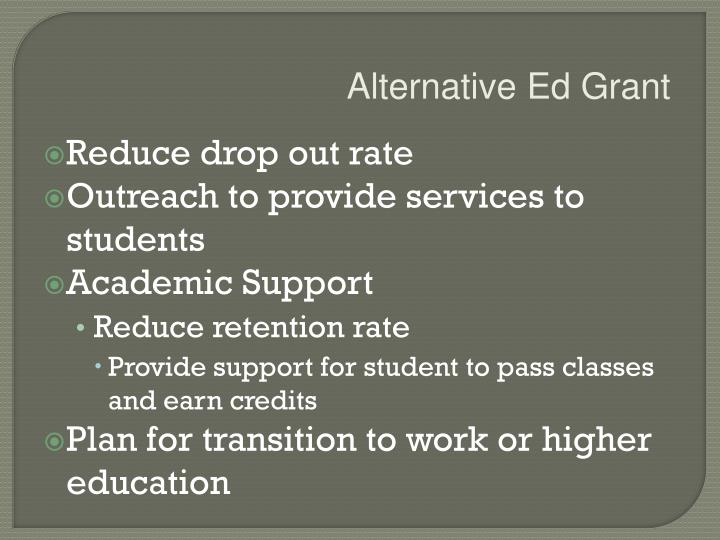 Alternative Ed Grant