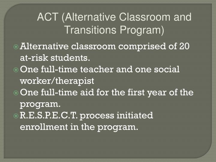 ACT (Alternative Classroom and Transitions Program)