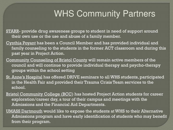 WHS Community Partners
