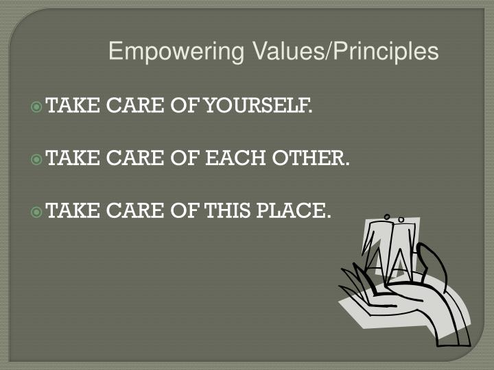 Empowering Values/Principles
