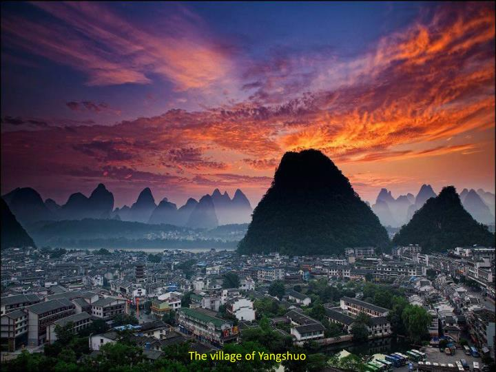 The village of Yangshuo