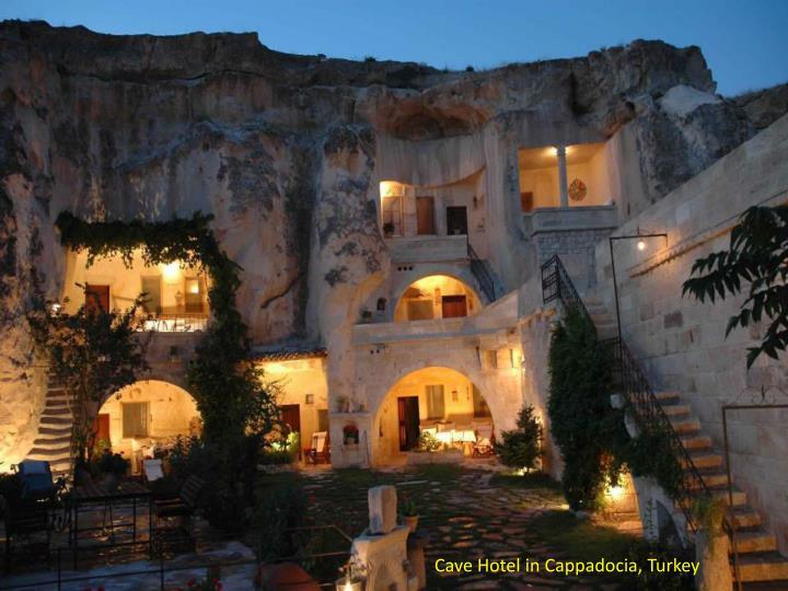 Cave Hotel in Cappadocia, Turkey