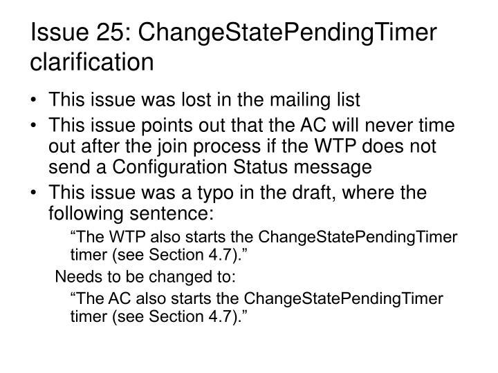 Issue 25: ChangeStatePendingTimer clarification