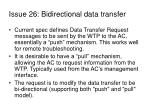 issue 26 bidirectional data transfer