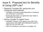 issue 5 proposed text for benefits of using udp lite