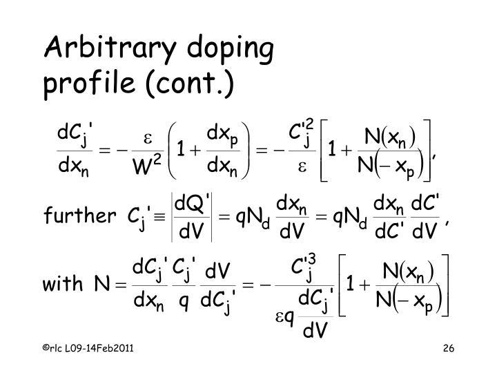 Arbitrary doping