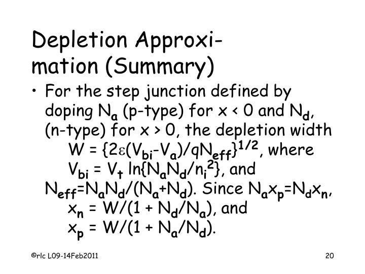 Depletion Approxi-