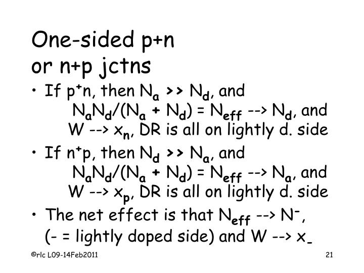 One-sided p+n