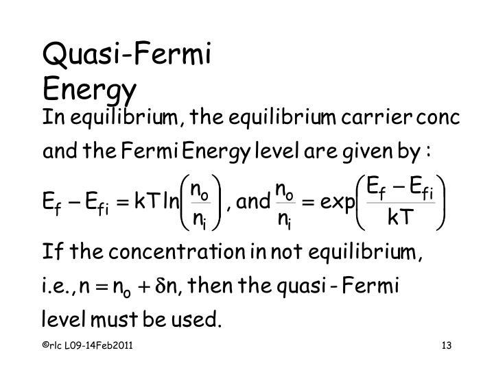 Quasi-Fermi