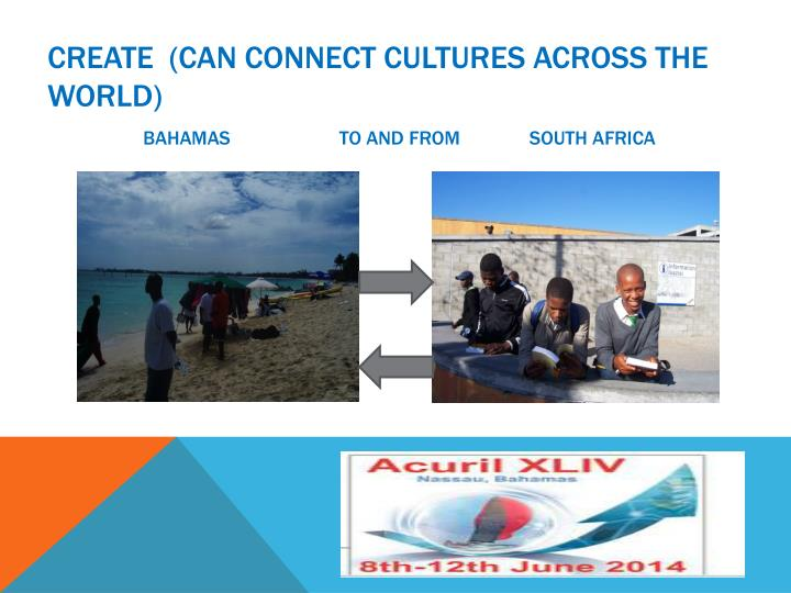Create  (can connect cultures across the world)