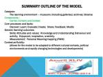 summary outline of the model1