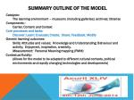 summary outline of the model2