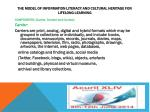 the model of information literacy and cultural heritage for lifelong learning1
