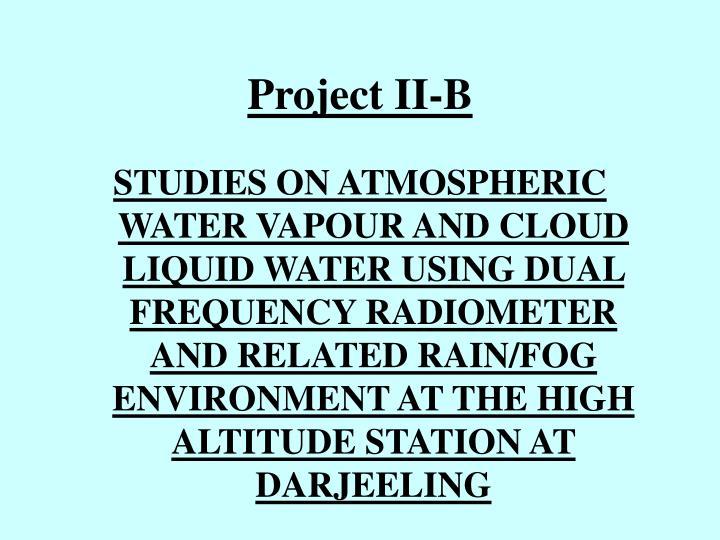 Project II-B