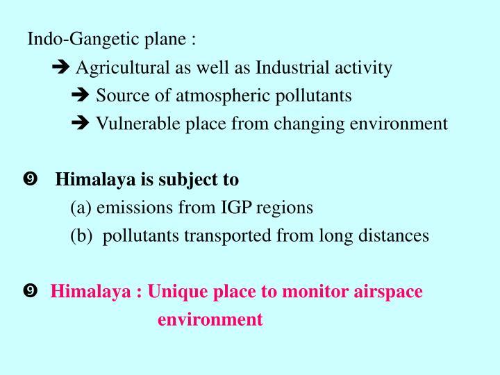 Indo-Gangetic plane :