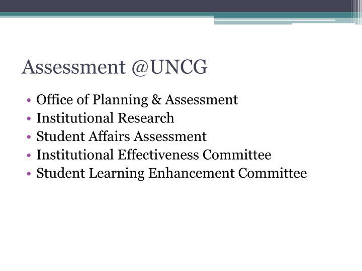 Assessment @UNCG