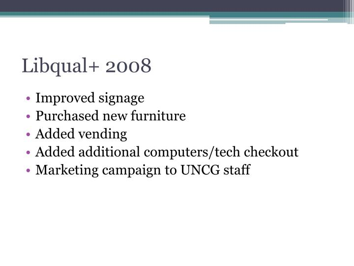 Libqual+ 2008
