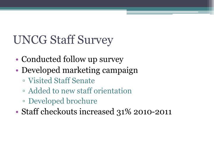 UNCG Staff Survey